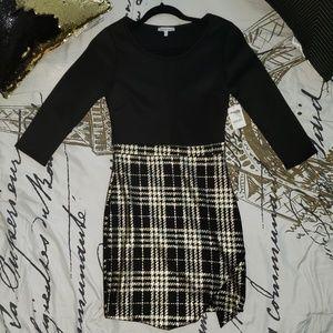 Black & Gold Checkered Dress